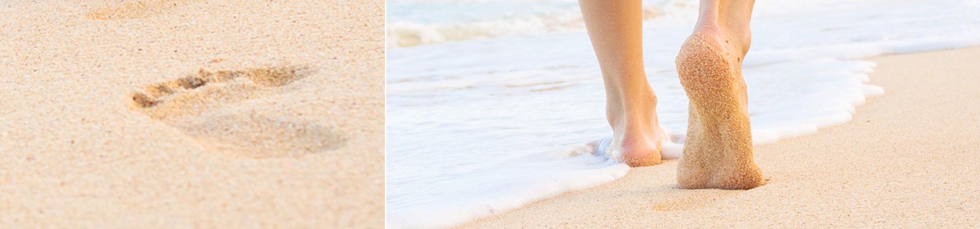Walking on sandstrand